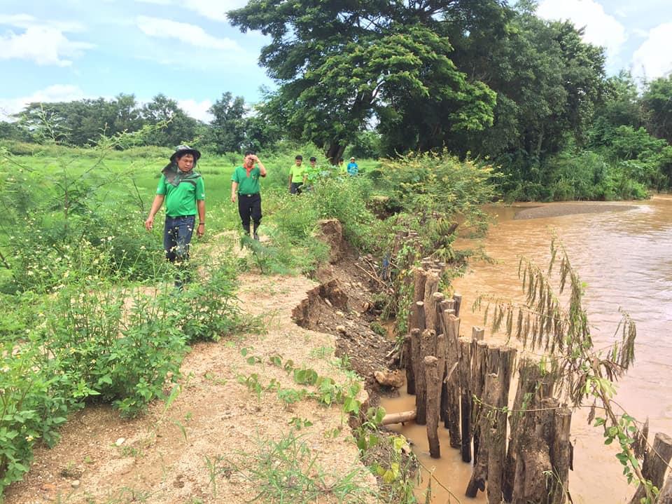 ตรวจสอบพื้นที่ที่ได้รับความเสียหายน้ำกัดเซาะตลิงพัง